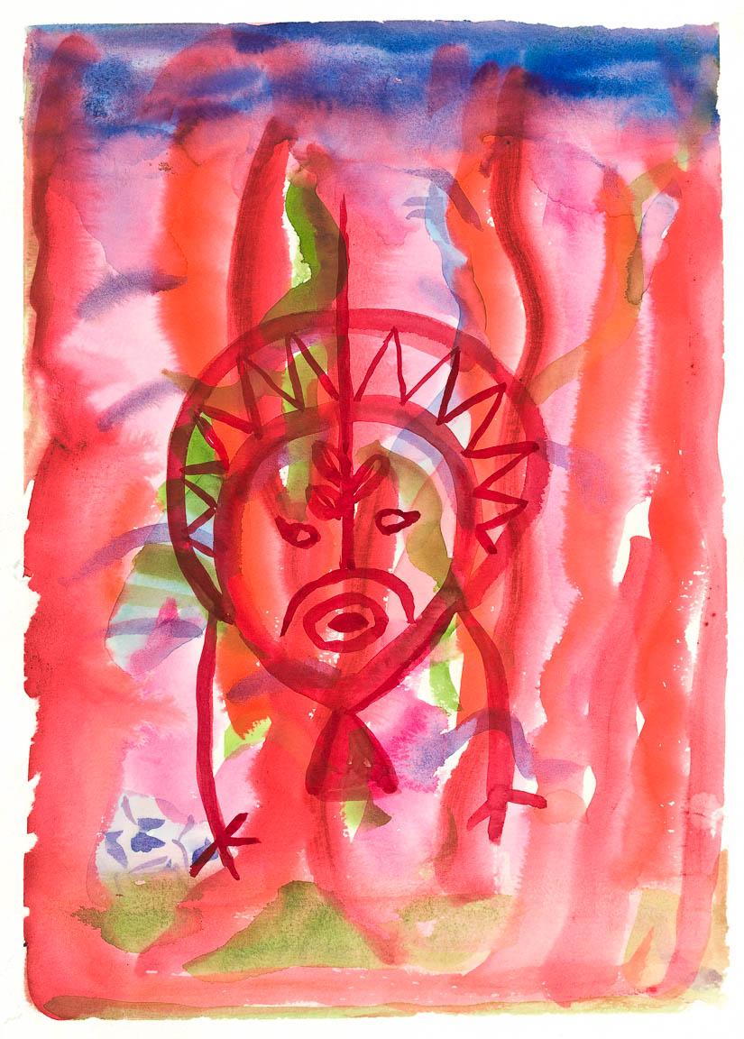 Red Petroglyph