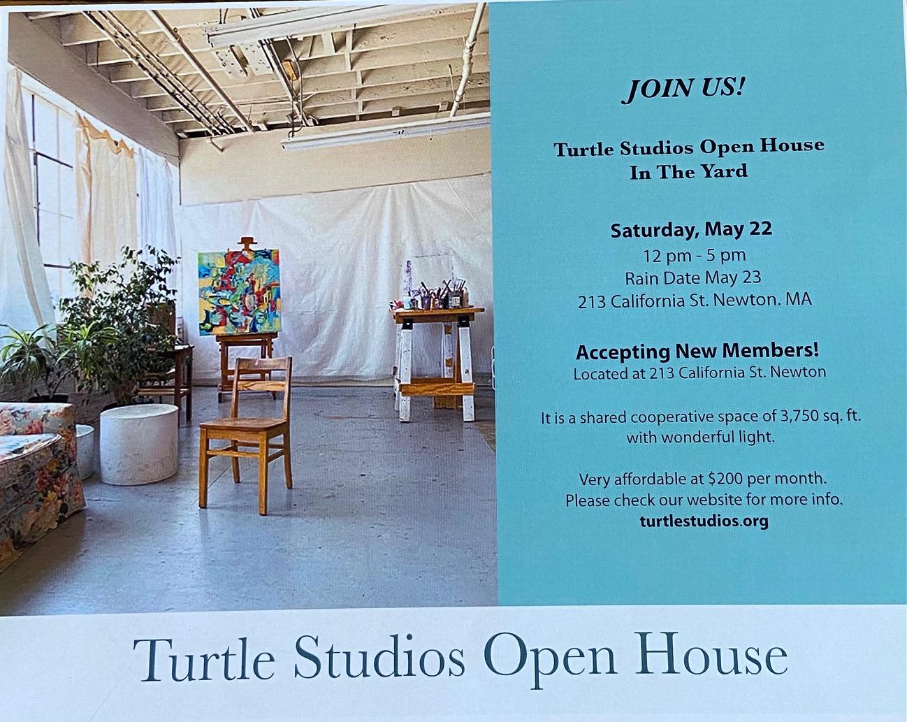 Turtle Studios Open House in the Yard